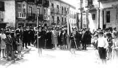 Preciosa imagen de la celebración de la proclamación de la República en Salvatierra (Alava) 14 de Abril de 1931