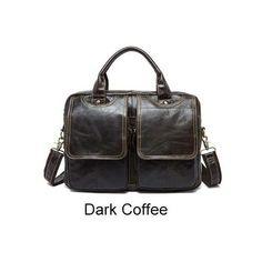 OLDALTÁSKA - COFFE LUX - VALÓDI BŐR TÁSKA - LUXUS Unisex, Sport, Grande, Fashion, Cow Hide, Men's Leather, Bags For Men, Leather Tote Handbags, Men's
