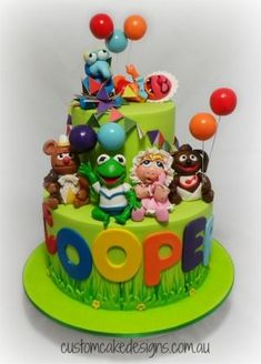 Baby Muppets 1st Birthday Cake - Cake by Custom Cake Designs - CakesDecor