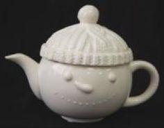 Irish Gift Finder :: Irish Christmas :: Irish Christmas - Aran Snowman Teapot -
