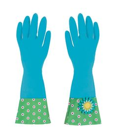 Look at this Boston Warehouse Blue Flower Garden Glamour Gloves on #zulily today!