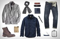 """Some inspiration for fall casual, a la Uncrate's """"Garb: Pocketed"""""""