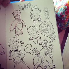 and here's the other page #sketch #sketchbook #inktober by madithefreckled