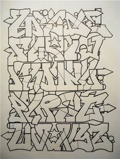 Wie Zeichnet Man Graffiti, Best Graffiti, Graffiti Murals, Graffiti Styles, Street Art Graffiti, Graffiti Artists, Graffiti Lettering Alphabet, Graffiti Writing, Tattoo Lettering Fonts