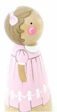 Nutcracker set of peg dolls Wood Peg Dolls, Clothespin Dolls, Clothespin Crafts, Pinecone Crafts Kids, Crafts For Kids, Doll Crafts, Diy Doll, Felt Dolls, Baby Dolls