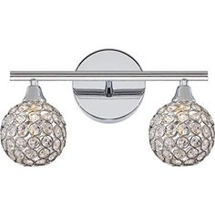 Best Bathroom Light Fixtures | Quoizel PCSR8602CLED Two Light Bath Fixture * Click image for more details. Note:It is Affiliate Link to Amazon. #PracticalandInnovativeBathroomLightFixtures