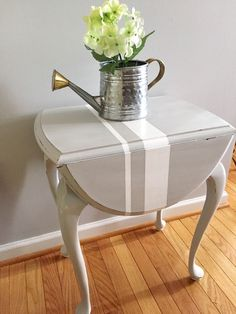A personal favorite from my Etsy shop https://www.etsy.com/listing/252395668/pretty-shabby-chic-drop-leaf-accent