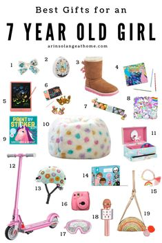 Birthday Presents For Girls, Best Birthday Gifts, Gifts For Boys, 7 Year Old Christmas Gifts, Christmas Stocking, Little Girl Gifts, 7 Year Olds, December Birthday, 7th Birthday