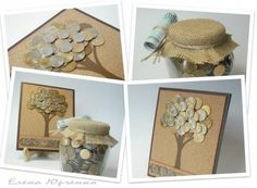 Inspiration only - money tree! Folding Money, Money Trees, Diy Cards, Homemade Gifts, Teacher Gifts, Projects To Try, Decorative Boxes, Gift Wrapping, Place Card Holders