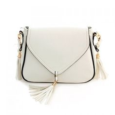 Stylish White Tassel Crossbody Bag