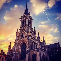 Sint-Gillisvoorplein / Parvis de Saint-Gilles in Brussel, Brussels Hoofdstedelijk Gewest
