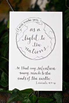Isaiah 49:6 Hand-Lettered Scripture Print Bella por Paperglaze