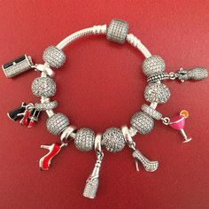 Girl's Night Out! Celebrate With Our New Glamour Charms! #pandora #pandorajewelry #pandorajewellery #pandorabracelet #pandoracharms #silver #bling #girlsnight #girlsnightout #glamour #lipstick #highheels #shoes #fashion #clutch #champagne #cocktails #pandoraflow