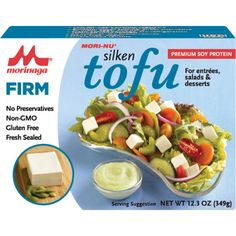 Save On Mori Nu Oz Silken Tofu Firm TetraFor Entr_es And Desserts Is Low-Fat, Heart-Healthy Vegetable Protein With Soy Isoflavones. With Its Creamy Silken Texture, This Tofu Is A Great Alternative To Eggs And Dairy. Vegetarian Spaghetti, Vegan Vegetarian, Vegan Pasta, Gourmet Recipes, Whole Food Recipes, Healthy Recipes, Tofu Salad, Organic Recipes, Ethnic Recipes