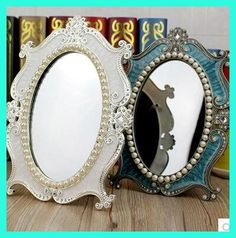 2015 new makeup mirror compact cosmetic mirrors lady table dressermirror vintage espelho maquiagem espejos specchio miroir J013