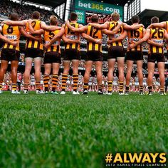 Always Hawthorn. Legends!!!!!! Now for next week!