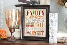 Thanksgiving Subway Art {free printable}