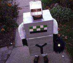diy robot costume photo