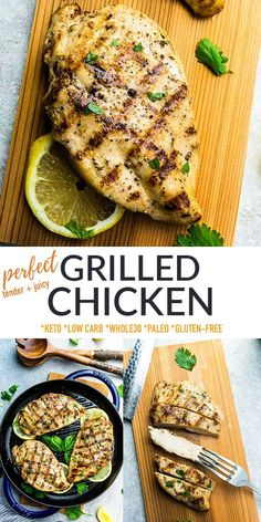 This Grilled Chickenis the best recipe for tender juicy BBQ chicken! It makes cooking chicken breasts or thighs easier than ever, and the flavorful marinade keeps the meat extra tender and juicy. Freezer-friendly, great for meal prep, naturally gluten-free, low carb, keto, paleo and Whole30 friendly. Chicken Marinade Recipes, Chicken Breast Recipes Healthy, Best Chicken Recipes, Good Healthy Recipes, Grilling Recipes, Yummy Recipes, Keto Recipes, Bhg Recipes, Duck Recipes