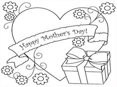 mothers day coloring sheet - Yahoo Image Search Results