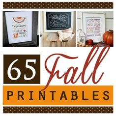 The Divas have done it again with these 65 beautiful Fall Printables! You will be all set this Fall with this amazing post!