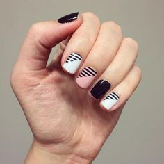 """""""Love my mixed mani #flashjn and #darkestblackjn I loved this wrap as soon as I saw it in the new catalog and I love it even more on. #jamberry…"""""""