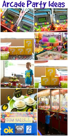 Arcade Birthday Party Ideas - Making Your Party Stand Out http://www.momsandmunchkins.ca/2014/05/13/arcade-birthday-party/ #Arcade #PartyIdeas