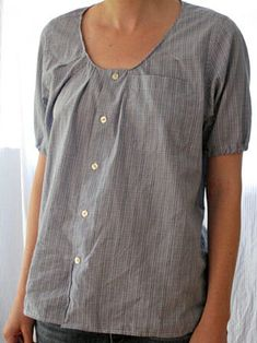 Sewing Men Clothes How to Upcycle Clothing – Men's Shirt Refashion Made Simple Sewing Men, Sewing Clothes, Men Clothes, Recycled Mens Shirt, Diy Clothes Alterations, Umgestaltete Shirts, Diy Clothes Refashion, Men's Shirt Refashion, Shirt Makeover