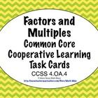 Get ready for the Common Core Standards with this set of self checking task cards! Your students will love reviewing factors and multiples (CCSS 4.OA.4) with these cards and BONUS game show template. $1.50