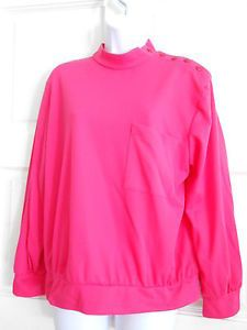 womans top shirt tunic pink sz s pullover long sleeves work office casual