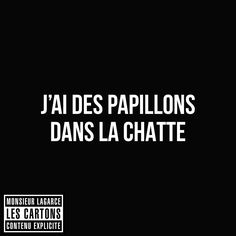 J'ai des papillons dans la chatte Words Quotes, Love Quotes, Funny Quotes, Sayings, Sweet Words, Love Words, Mots Forts, Some Sentences, Quote Citation