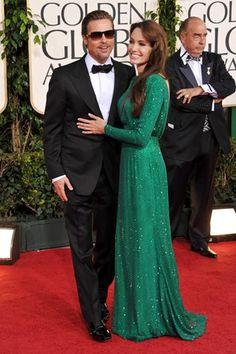 Brad Pitt & Angelina Jolie on the Red Carpet - Golden Globes 2011