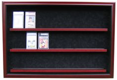24 Graded Card Display Case by HomeplateHeroes on Etsy Craft Booth Displays, Display Ideas, Display Cases, Baseball Card Displays, Hockey Cards, Baseball Cards, Keep Collection, Shadow Box Frames, Wood Crates