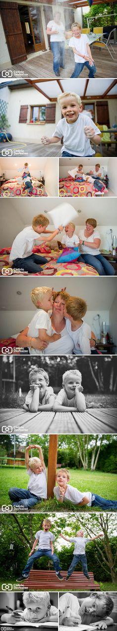 Cedric Derbaise Photographies Picardie Oise séance en famille à domicile séance photo folie cadeau