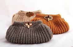 Rosa acessórios em tricô & crochê: Bolsas de crochê
