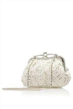 Ivory Vintage Effect Lace Bag
