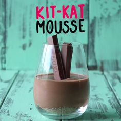 Silky smooth mousse with a Kit Kat crust and two kit kat fingers on top