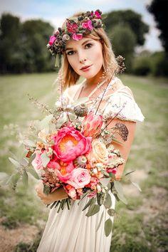 boho vintage wedding peonies bridalbouquet brautstrauß bohemian