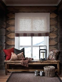 Self Architecture / cozy cabin charm Chalet Interior, Home Interior, Interior Decorating, Interior Design, Cabin Homes, Log Homes, Cabins And Cottages, Deco Design, Rustic Interiors