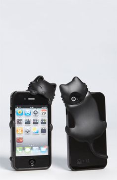 Cara Couture 'Peeking Cat' iPhone 4 & 4S Case available at Nordstrom