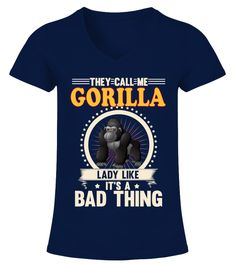 """# GORILLA Animals Lover .  HOW TO ORDER:1. Select the style and color you want2. Click """"Buy it now""""3. Select size and quantity4. Enter shipping and billing information5. Done! Simple as that!TIPS: Buy 2 or more to save shipping cost!This is printable if you purchase only one piece. so don't worry, you will get yours.Guaranteed safe and secure checkout via: Paypal 