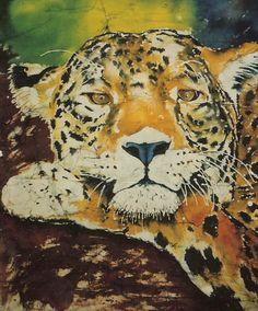 Leopard Batik #AnimalArt #Art