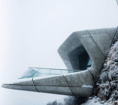 Messner Mountain Museum Corones by Zaha Hadid Architects in South Tyrol, Italy (… - Architecture Zaha Hadid Architecture, Museum Architecture, Space Architecture, Futuristic Architecture, Beautiful Architecture, Contemporary Architecture, Contemporary Art, Arquitectos Zaha Hadid, South Tyrol