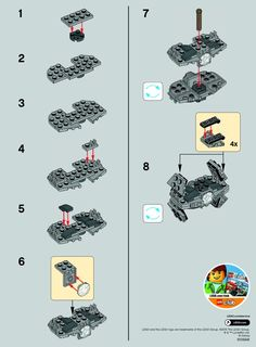 LEGO 30275 TIE Advanced Prototype instructions displayed page by page to help you build this amazing LEGO Star Wars set
