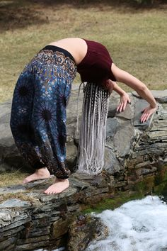Yoga beauty in a natural setting with Chang Pants from Champa Clothing Stylish Outfits, Sequin Skirt, Sequins, Yoga, Natural, Skirts, Clothing, Pants, Beauty