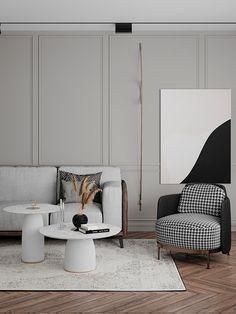 Classic Living Room, Elegant Living Room, Living Room Modern, Apartment Interior, Interior Design Living Room, Living Room Designs, Studio Apartment, Modern Classic Interior, Classic Home Decor