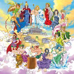 Twelve Olympian gods in Hong's Classical mythology Classical Mythology, Greek And Roman Mythology, Greek Gods And Goddesses, Manga Anime, Egyptian Anubis, Nemean Lion, Yuki Onna, Religion, Roman Gods