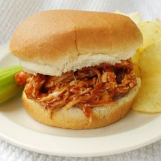 Easiest Barbecue Chicken Sandwiches Ever -- $1.40 per serving | 15 Cheap Recipes and Dinner Ideas | Budget-Friendly Family Recipes | Food