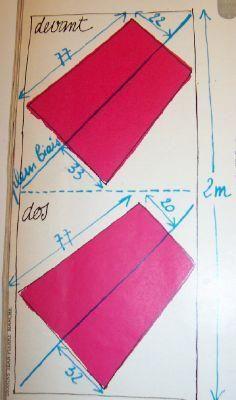 Patron de la jupe en biais , site des 103 idées de Joline -  vite fait, bien fait ;-)