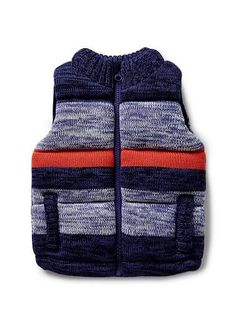 Baby Boys Jackets & Coats | Mix Yarn Knit Puffer Vest | Seed Heritage
